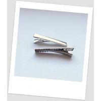 Основа для заколки металлическая, 40 мм, стального цвета, упаковка -5 шт. (id:300006)