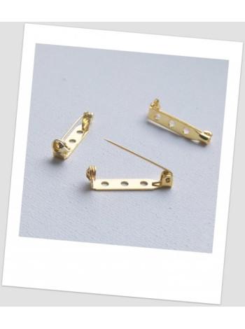 Основа для броши металлическая, золотой цвет, 21 х 5 мм. Упаковка - 4 шт.