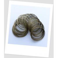Мемори-проволока для браслета, бронзового цвета, 55-60 мм диаметром (тонкое запястье). (id:680010)
