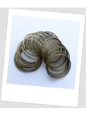 Мемори-проволока для браслета, бронзового цвета, 55-60 мм диаметром (тонкое запястье).