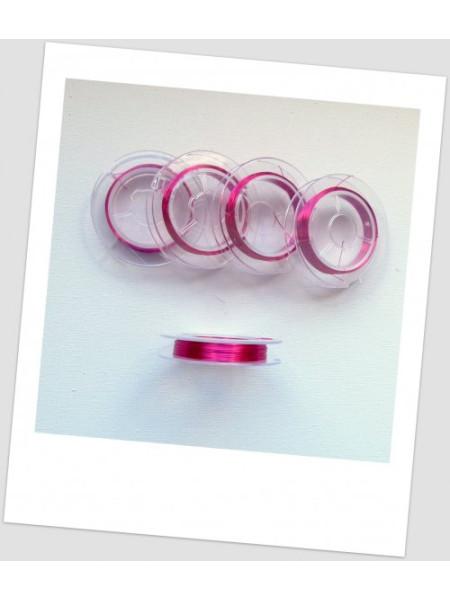 Проволока цветная на катушке, 0,3, цвет - малиновый, в катушке - 10 м. (id:690012)
