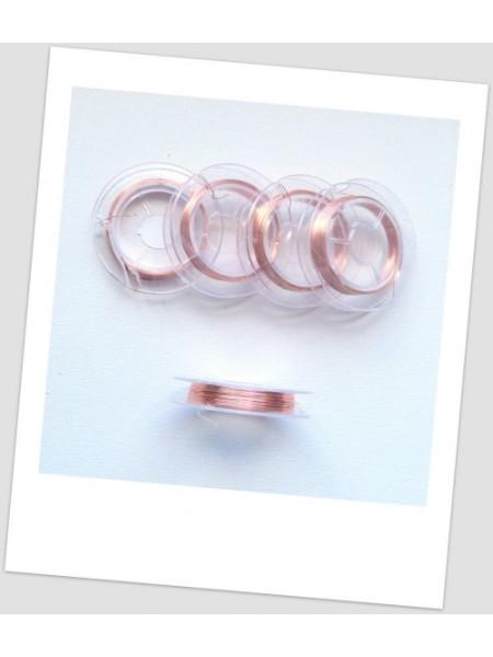 Проволока цветная на катушке, 0,3, цвет -светлая медь, в катушке - 10 м. (id:690015)