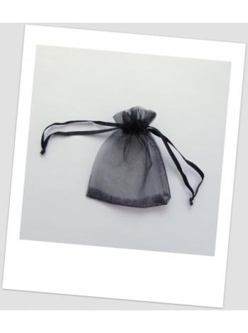 Мешочек из органзы 18 см х 13 см чёрный.
