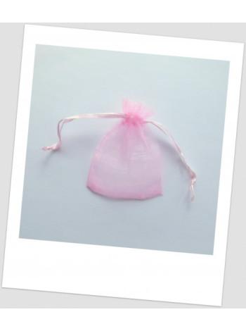 Мешочек из органзы ювелирный 7х 9 см, цвет розовый.