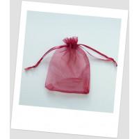 Мешочек из органзы  (20 х 30 см), бордовый. (id:700061)