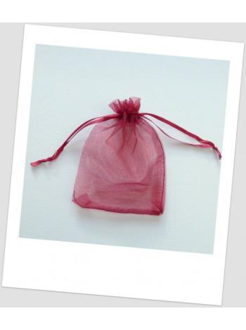 Мешочек из органзы  (12 х 9 см), бордо.