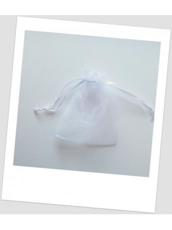 Мешочек из органзы ювелирный 7х 9 см белый