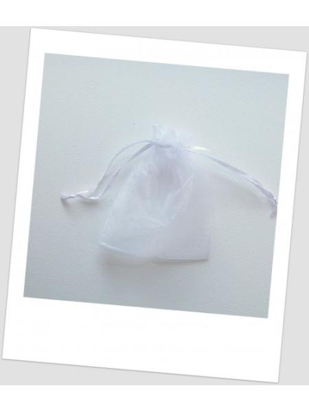 Мешочек из органзы ювелирный 7х 9 см белый (id:700019)