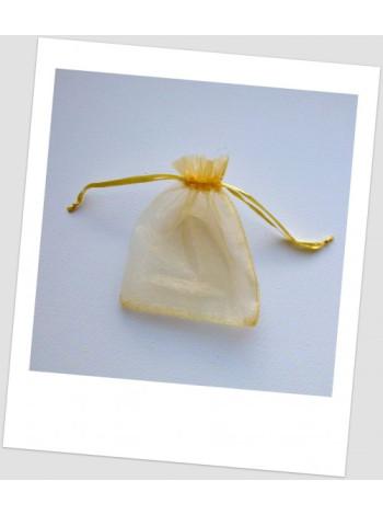 Мешочек из органзы  (12 х 9 см), голден.