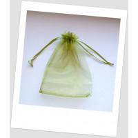 Мешочек из органзы  (12 х 9 см), оливковый (id:700050)