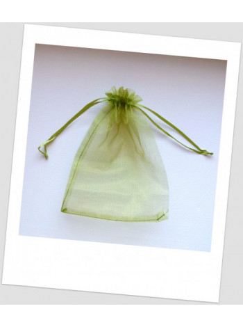 Мешочек из органзы  (12 х 9 см), оливковый