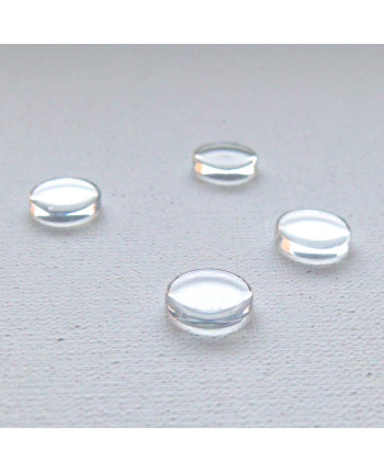 Кабошон стеклянный плоский (не линза!), 10 х 2 мм  (id:720013)