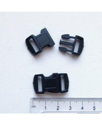 Фастекс для паракорд-браслета пластиковый, черный, 29x16 мм (id:720012)