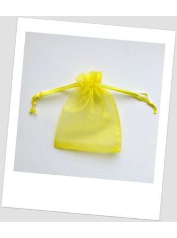 Мешочек из органзы  (12 х 9 см), желтый.