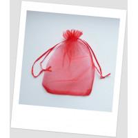 Мешочек из органзы 18 см х 13 см красный. (id:700045)