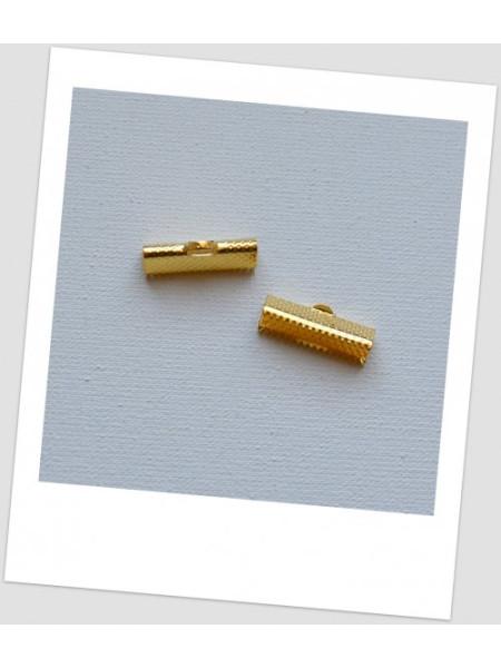 """Концевик - зажим """"крокодильчик"""" металлический, золотого цвета,, 20 х 8 мм. Упаковка - 318 шт!"""