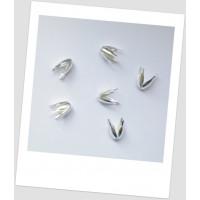 Шапочка для бусины металлическая, цвет серебрянный, 13 x 8 мм , упаковка - 50 шт. (id:270017)