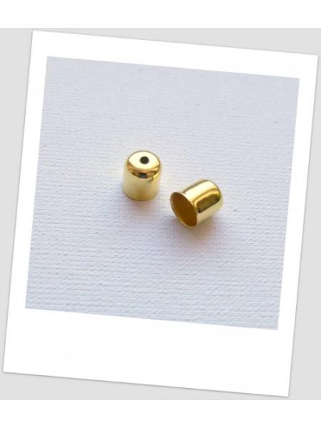 Концевик  металлический, золотого цвета,  8x7 мм. Упаковка - 40 шт. (id:270039)