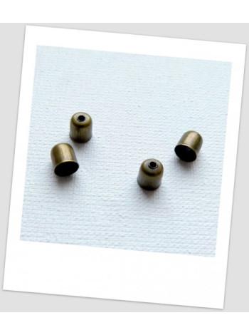 Концевик металлический, бронзового цвета, 6x5 мм. Упаковка - 50 шт.