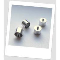 Концевик колпачок для бижутерии металлический, 9 мм внутренний диаметр, цвет стальной, упаковка - 10 шт. (id:270078)