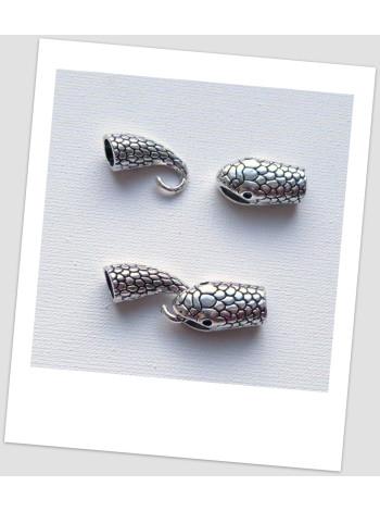 Концевик - тогл для браслетов металлический, 7 мм внутренний диаметр, цвет стальной