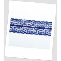 Кружево синтетическое, цвет синий, ширина  - 45 мм (id:750002)