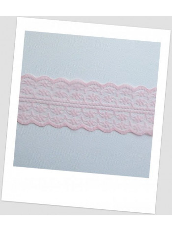 Кружево синтетическое, цвет нежно розовый, ширина  - 45 мм