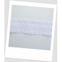 Кружево синтетическое, цвет белый, ширина  - 45 мм (id:750000)