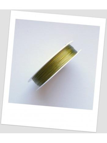Тросик ювелирный, катушка - 100 метров. Цвет золотой.