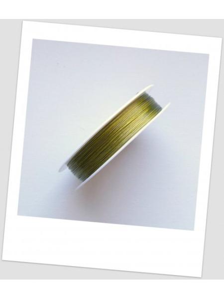 Тросик ювелирный, катушка - 100 метров. Цвет золотой. (id:510004)