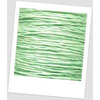 Шнур хлопковый вощеный бледно мятный 1 мм (id:500044)