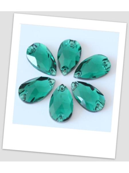 Стразы капля пришивные (стекло), 13x18 мм, цвет Blue zircon , цена за 1 шт. (780028)