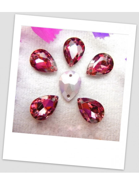 Стразы капля пришивные (стекло), 10x14 мм, цвет A8 Wine red , цена за 1 шт. (780030)