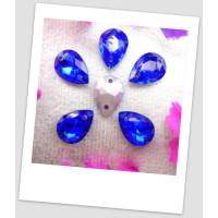 Стразы капля пришивные (стекло), 13x18 мм, цвет A9 Sapphire, цена за 1 шт. (780044)