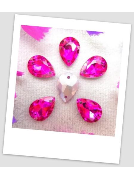 Стразы капля пришивные (стекло), 13x18 мм, цвет A23 Rose, цена за 1 шт. (780039)
