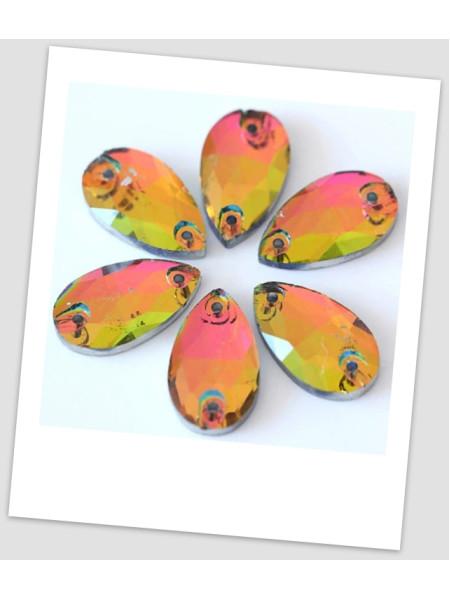 Стразы капля пришивные (стекло), 13x18 мм, цвет Rainbow, цена за 1 шт. (780023)