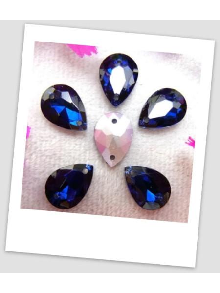 Стразы капля пришивные (стекло), 13x18 мм, цвет A12 Montana, цена за 1 шт. (780041)